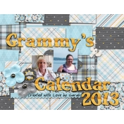 2013 Grammy Calendar- Cover
