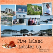 Turbats Creek Vacation Book- Five Island Lobster Co.