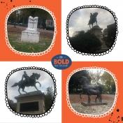 Garibaldi's Pony and other Statues