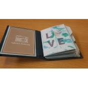 pocket card mixed media mini album a few pages