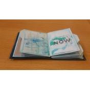 pocket card mixed media mini album a few pages 3