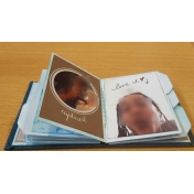 pocket card mixed media mini album a few pages 4