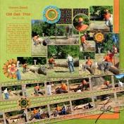 Steve's Oak Tree Bench