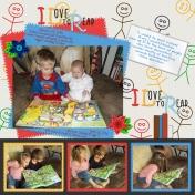 Samuel reading to Emma Lou