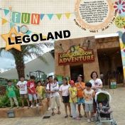 Project Life Week 5 Fun @ Legoland (left side)