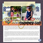 July Layout Template
