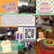 Happy 4th Jonah- Cake/Presents at Nana's