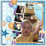 Happy 2nd Birthday Ezra. Layout 1