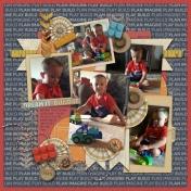 Jonah Loving Legos