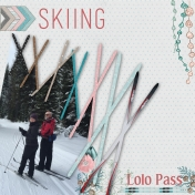 Skiing Lolo Pass