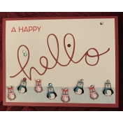 Happy Hello Christmas card