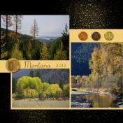 Montana Mountains in fall