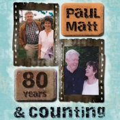 80th Birthday Photo Book Front Cover