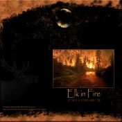 Elk in Fire