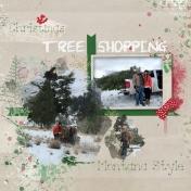 Christmas tree shopping Montana style