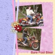 Bare Foot Biker