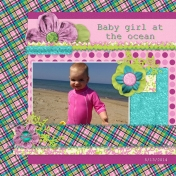 Baby girl at the ocean