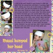 Massi Bumped her head