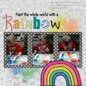 Paint a rainbow