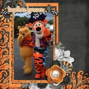 Halloween Tigger and Pooh
