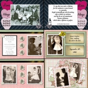 50th Anniversary Scrapbook for My Parents - Courtship and Wedding