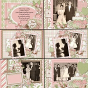 50th Anniversary Scrapbook for My Parents - Courtship and Wedding 2