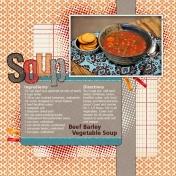 Recipe Layout- Soup
