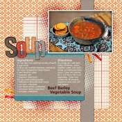 Recipe Layout- Soup
