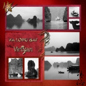 Ha Long Bay B+W+Red