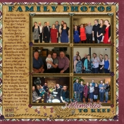 Family Photos- our memories to keep