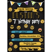 Dustins Party Invitations Digital Copy