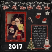 Dustins First Visit With Santa 2017