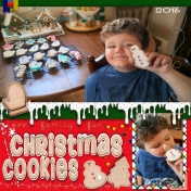 Iced Christmas Cookies 2016
