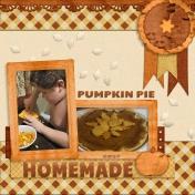 Homemade Pumpkin Pie 2017