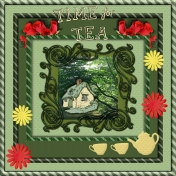 Cutout Frame Tea Time
