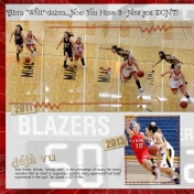 Whitney's College Basketball Scrapbook page 4