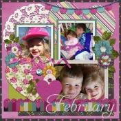 February 2016 Calendar-Our Family