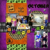 October 2016 Calendar-Our Family