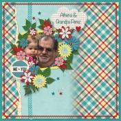 Athena & Grandpa Perez