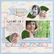 Allison at 8