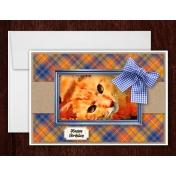 Watercolor Tabby Cat Greeting Card