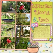 Butterflies, Blooms & Birds (right)