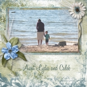 Aunt Lydia and Caleb at Water's Edge