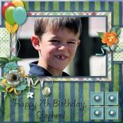 Happy 7th Birthday, Stephen!