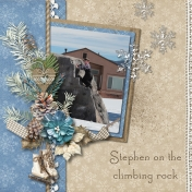 Stephen on the Climbing Rock