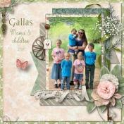 Gallas; Mama and Children