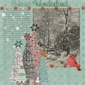 Birds in Snow Kit Challenge Layout 2