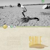 Sauter dans le sable