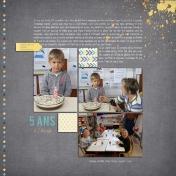 5 ans à l'école (left page)