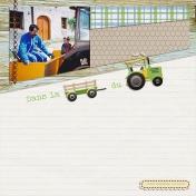 Dans le tracteur